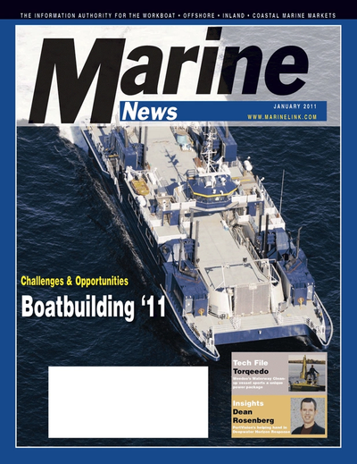 Cover of January 2011 issue of Marine News Magazine