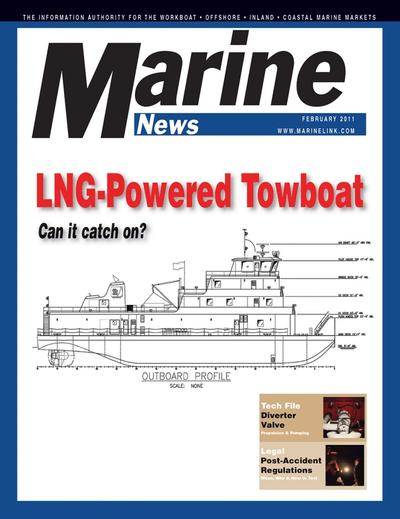 Cover of February 2011 issue of Marine News Magazine