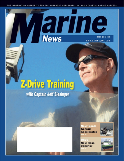Cover of March 2011 issue of Marine News Magazine