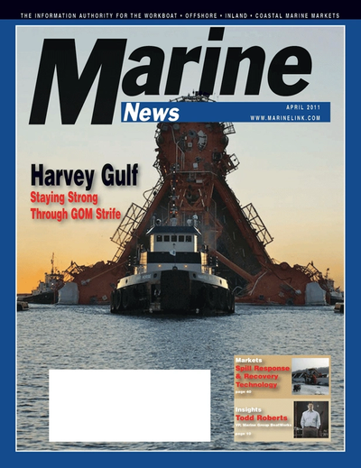 Cover of April 2011 issue of Marine News Magazine