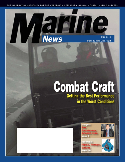 Cover of May 2011 issue of Marine News Magazine