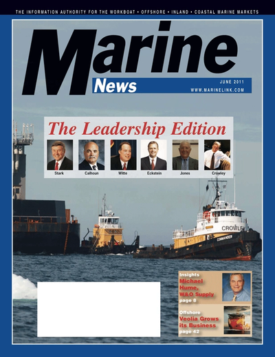 Cover of June 2011 issue of Marine News Magazine