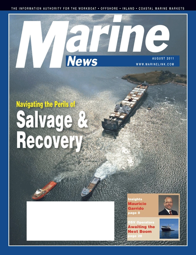 Cover of August 2011 issue of Marine News Magazine