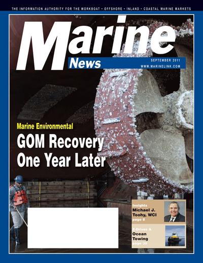 Cover of September 2011 issue of Marine News Magazine