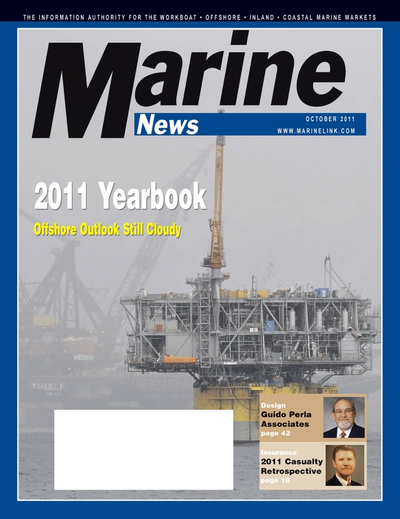 Cover of October 2011 issue of Marine News Magazine