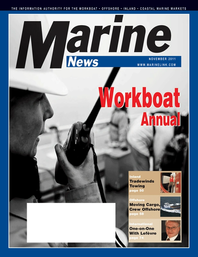 Cover of November 2011 issue of Marine News Magazine