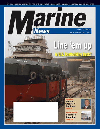 Cover of January 2012 issue of Marine News Magazine