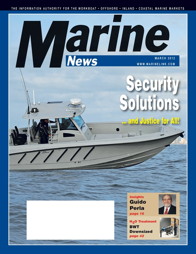 Cover of March 2012 issue of Marine News Magazine