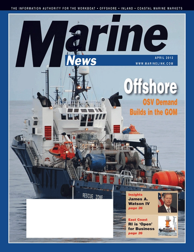Cover of April 2012 issue of Marine News Magazine