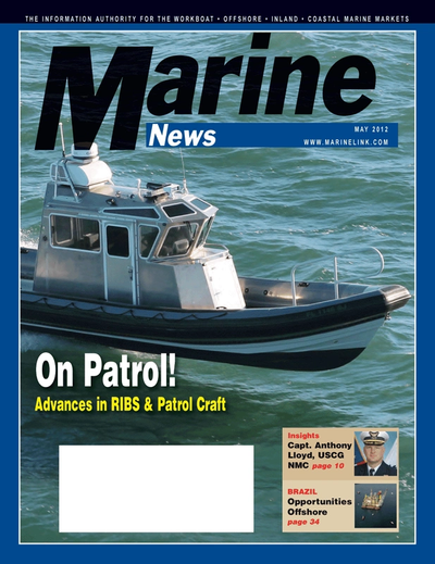 Cover of May 2012 issue of Marine News Magazine