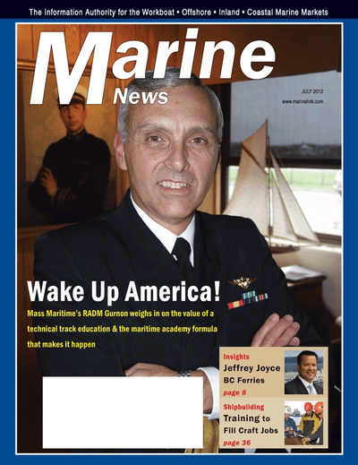 Cover of July 2012 issue of Marine News Magazine