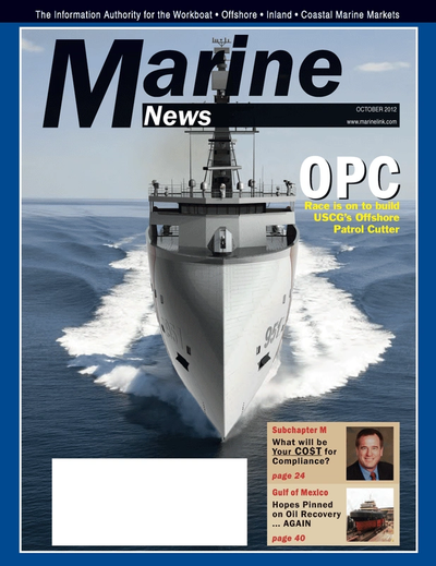 Cover of October 2012 issue of Marine News Magazine
