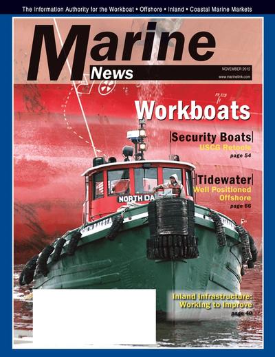 Cover of November 2012 issue of Marine News Magazine