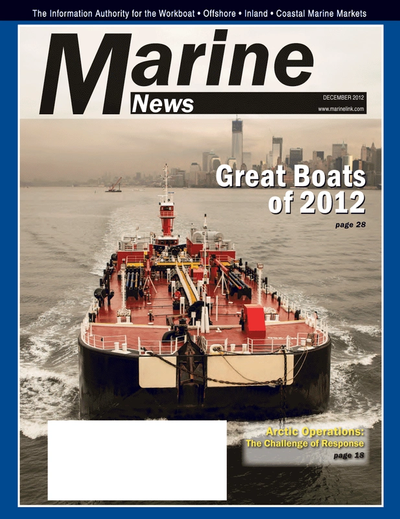 Cover of December 2012 issue of Marine News Magazine