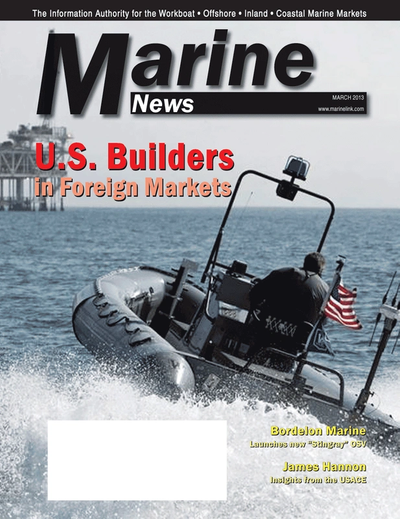 Cover of March 2013 issue of Marine News Magazine