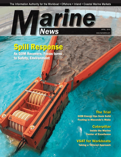 Cover of April 2013 issue of Marine News Magazine