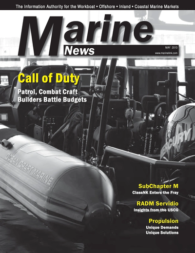 Cover of May 2013 issue of Marine News Magazine