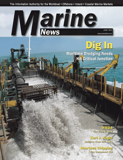 Cover of June 2013 issue of Marine News Magazine