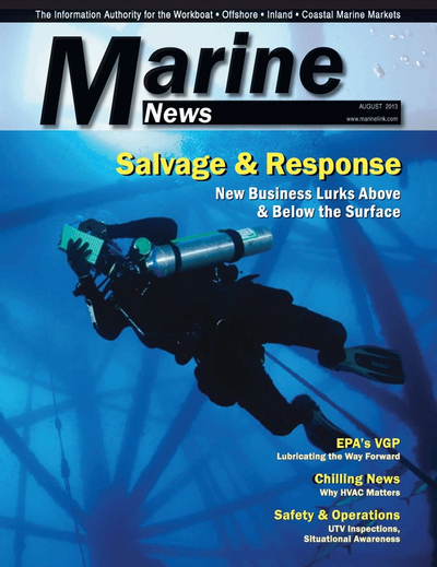 Cover of August 2013 issue of Marine News Magazine