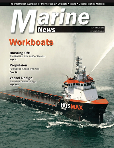 Cover of September 2013 issue of Marine News Magazine