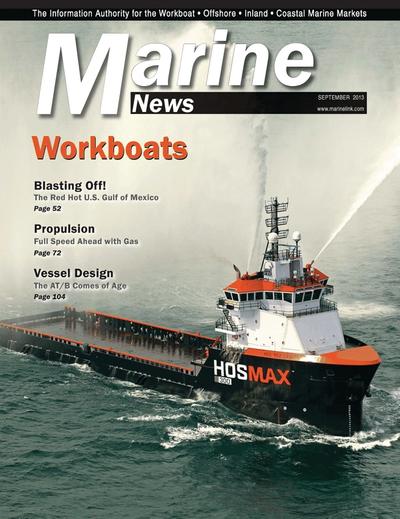Cover of September 2013 issue of Marine News Magazine