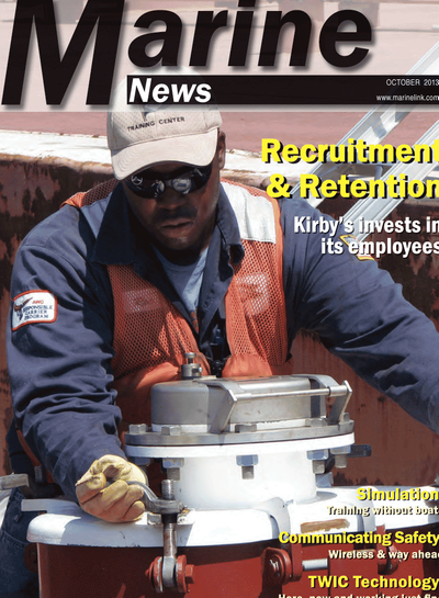 Cover of October 2013 issue of Marine News Magazine