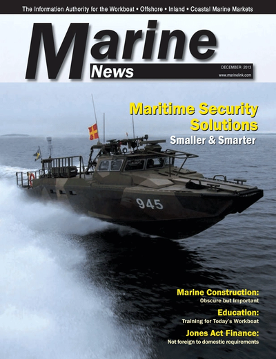 Cover of December 2013 issue of Marine News Magazine