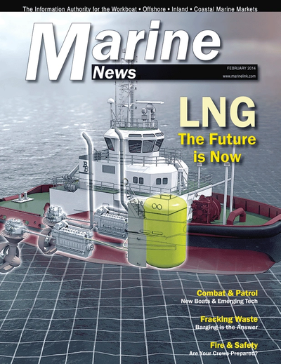 Cover of February 2014 issue of Marine News Magazine