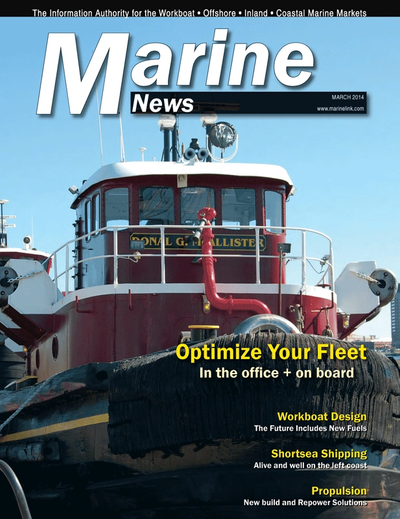 Cover of March 2014 issue of Marine News Magazine