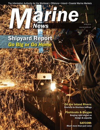 Cover of April 2014 issue of Marine News Magazine