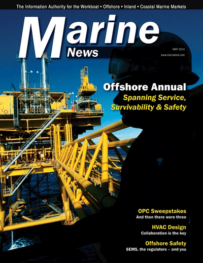 Cover of May 2014 issue of Marine News Magazine