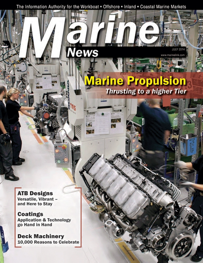 Cover of July 2014 issue of Marine News Magazine