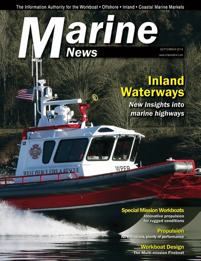 Cover of September 2014 issue of Marine News Magazine