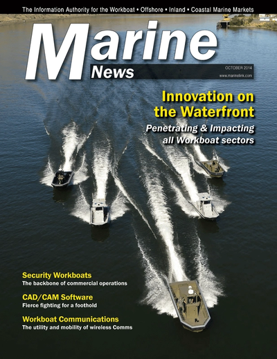 Cover of October 2014 issue of Marine News Magazine