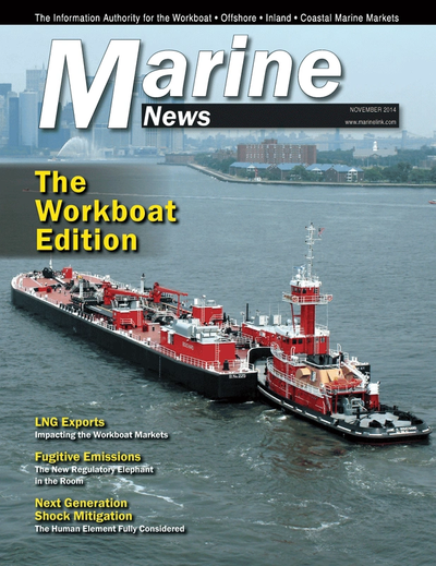 Cover of November 2014 issue of Marine News Magazine