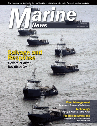 Cover of December 2014 issue of Marine News Magazine