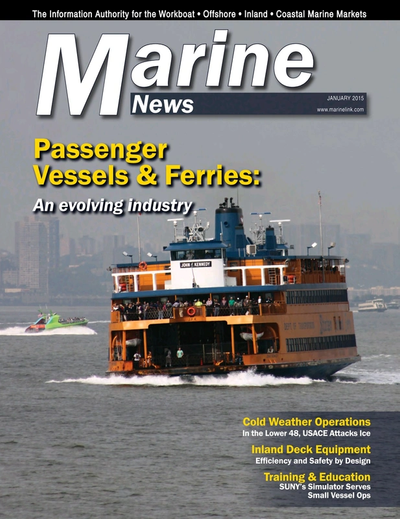 Cover of January 2015 issue of Marine News Magazine
