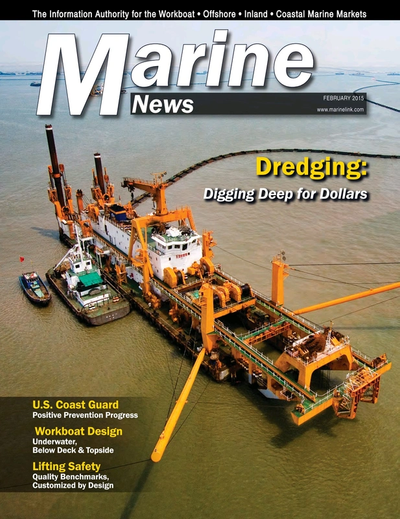 Cover of February 2015 issue of Marine News Magazine