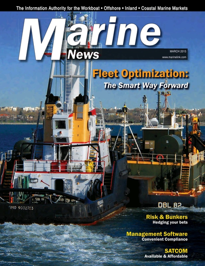 Cover of March 2015 issue of Marine News Magazine