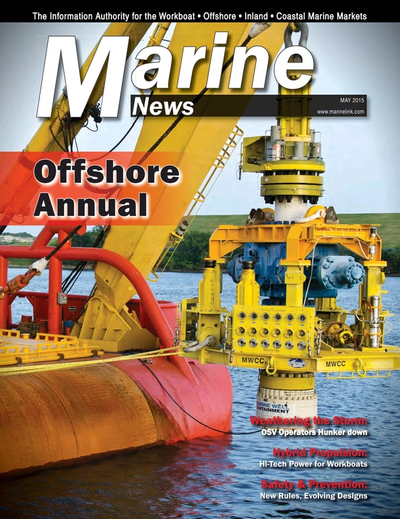 Cover of May 2015 issue of Marine News Magazine
