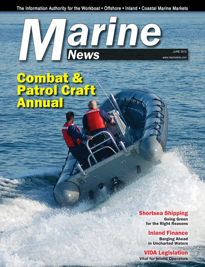 Cover of June 2015 issue of Marine News Magazine