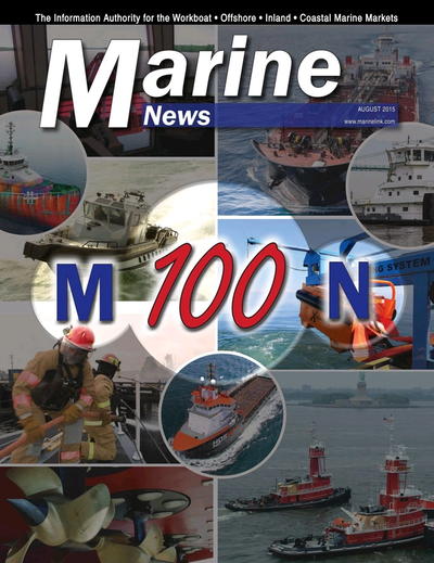 Cover of August 2015 issue of Marine News Magazine