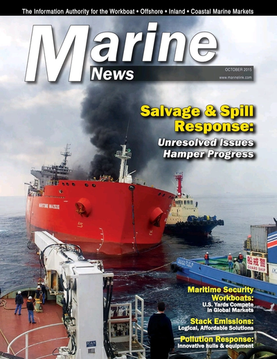 Cover of October 2015 issue of Marine News Magazine