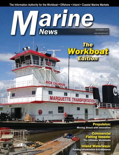 Cover of November 2015 issue of Marine News Magazine