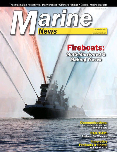 Cover of December 2015 issue of Marine News Magazine