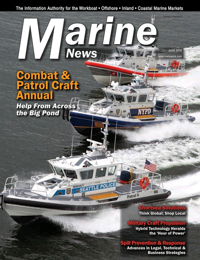 Cover of June 2016 issue of Marine News Magazine