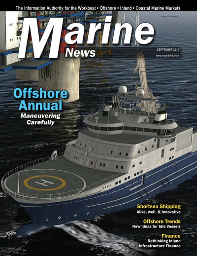 Cover of September 2016 issue of Marine News Magazine