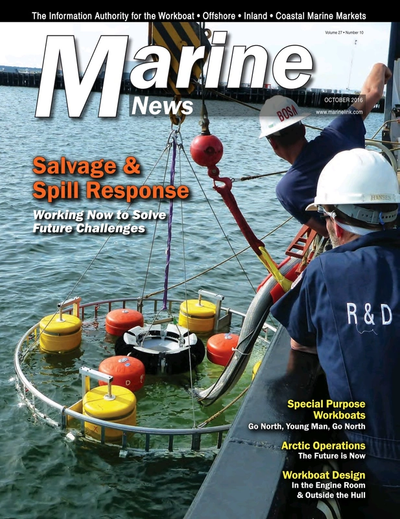 Cover of October 2016 issue of Marine News Magazine