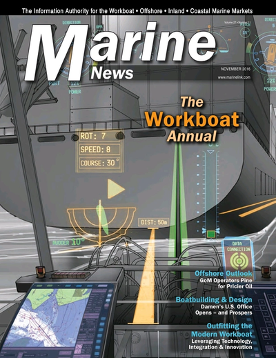 Cover of November 2016 issue of Marine News Magazine