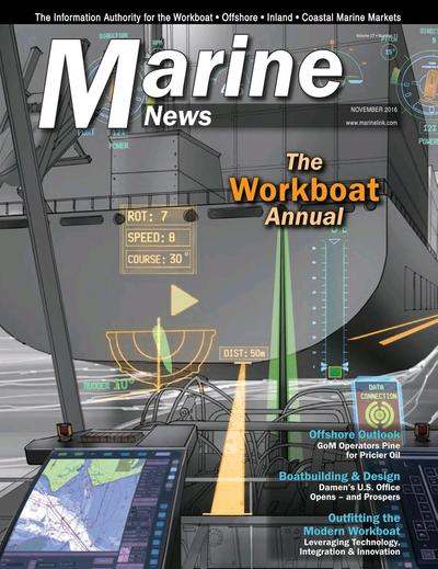 Cover of November 2016 issue of Marine News Magazine